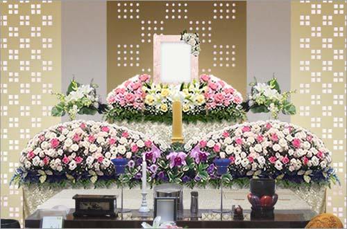 新座市営墓園 の家族葬43花祭壇イメージ2