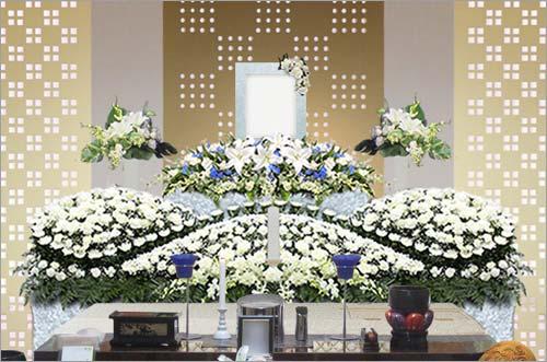 新座市営墓園 の家族葬43花祭壇イメージ4