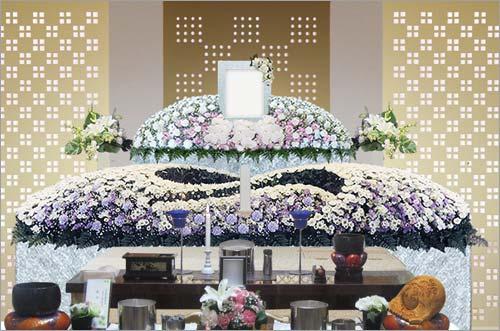 新座市営墓苑の一般葬53花祭壇イメージ3