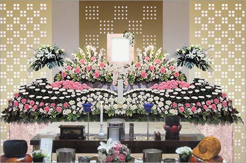 新座市営墓苑の一般葬53花祭壇イメージ4