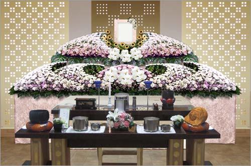 新座市営墓園 の一般葬83花祭壇イメージ2