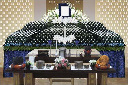 新座市営墓園 の一般葬83花祭壇イメージ3