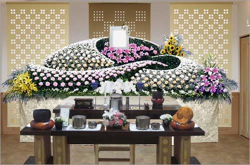 新座市営墓園 の一般葬83花祭壇イメージ4